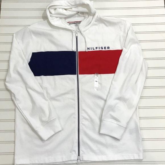 df771f4bc7b32 Tommy Hilfiger Shirts   Nwt Mens Zip Up Hoodie Jacket Xl   Poshmark